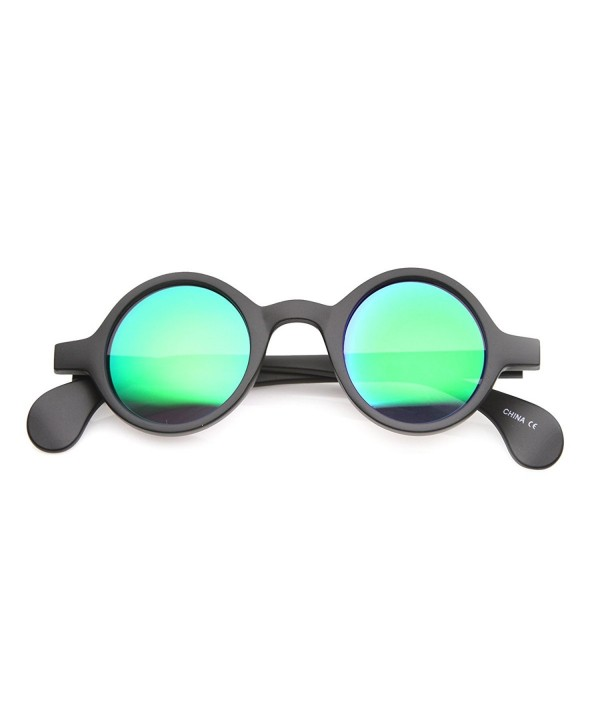 Retro Mirror Rimmed Sunglasses Midnight