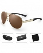 WELUK Oversized Sunglasses Polarized Protection