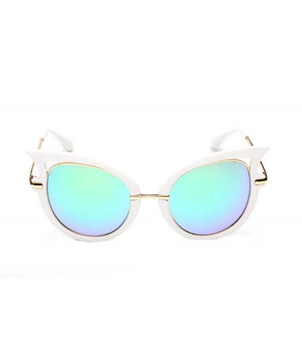 GAMT Fashion Mirrored Sunglasses Blue Green