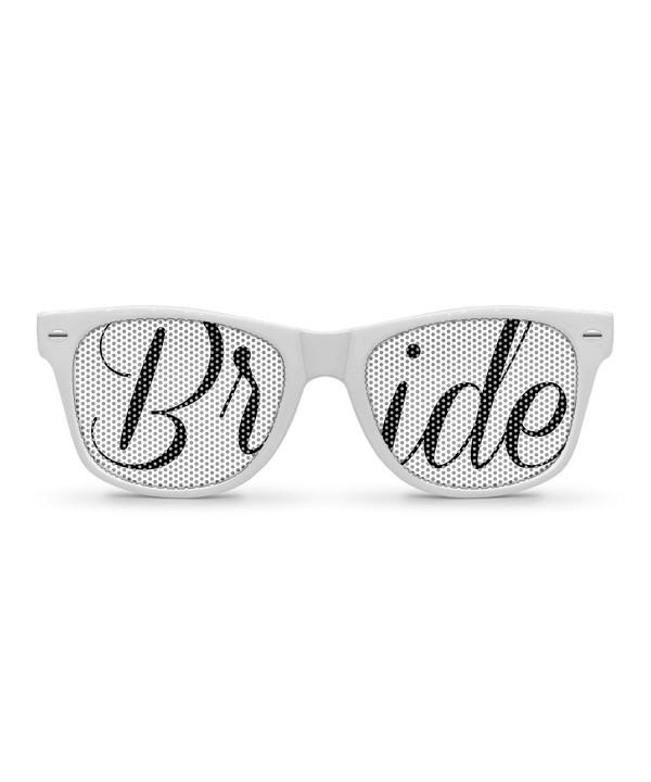 BRIDE White Retro Party Sunglasses