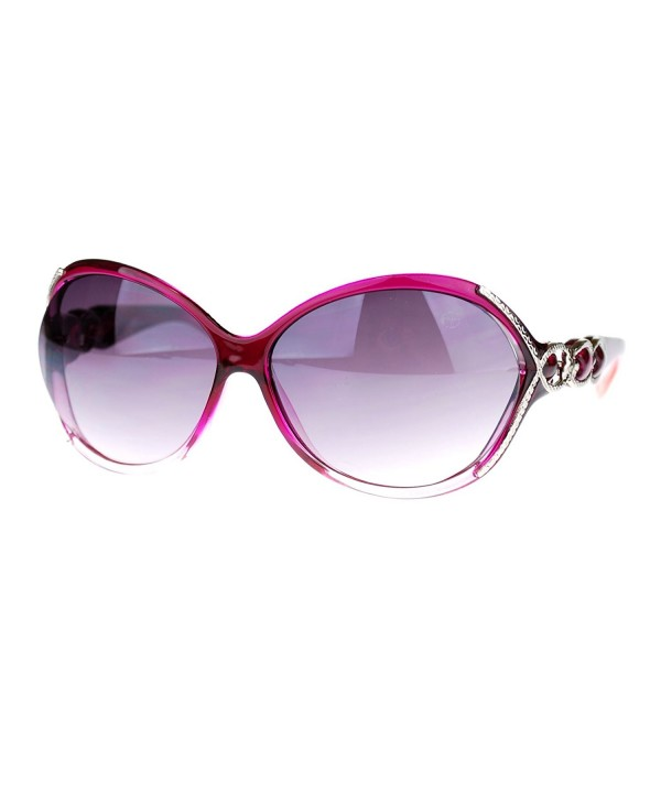 Golden Serpent Butterfly Sunglasses Burgundy
