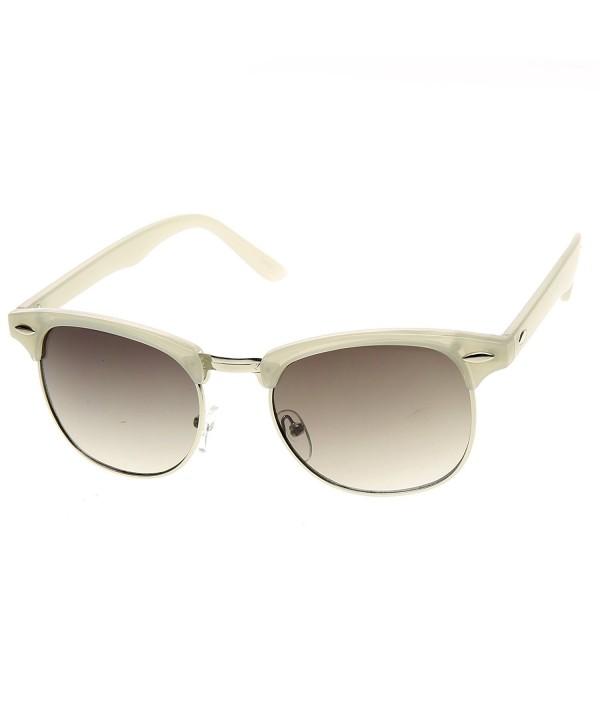 zeroUV Pastel Semi Rimless Rimmed Sunglasses