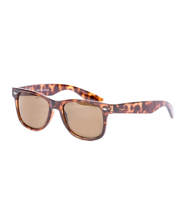 Amber Wayfarer Sunglasses Polarized Lenses