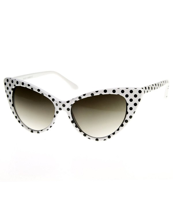 zeroUV Womens Fashion Sunglasses Black Dots