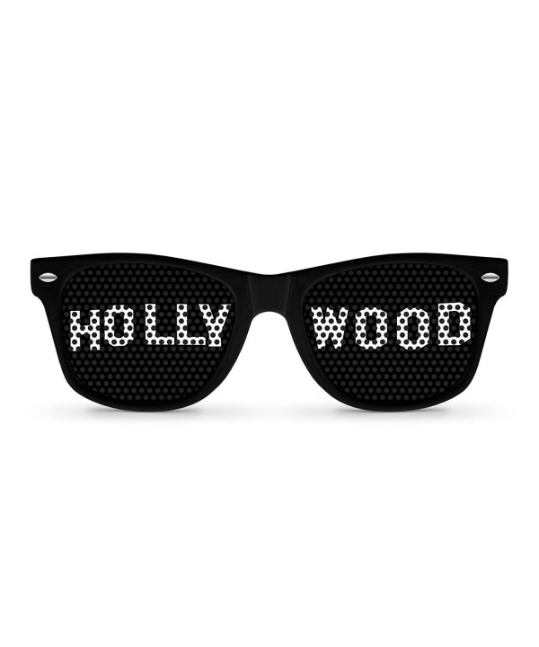 HOLLYWOOD Black Retro Party Sunglasses