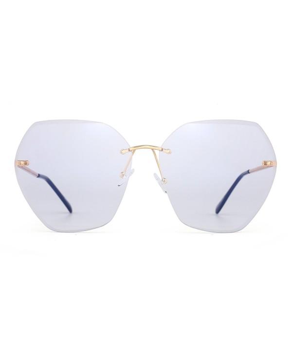 Oversize Rimless Gradient Sunglasses Eyeglasses