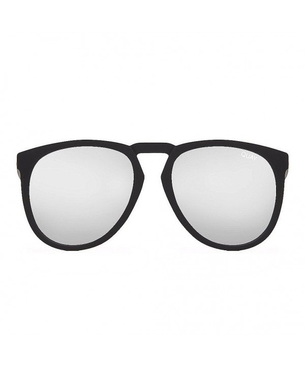Quay Mens Sunglasses Black Silver
