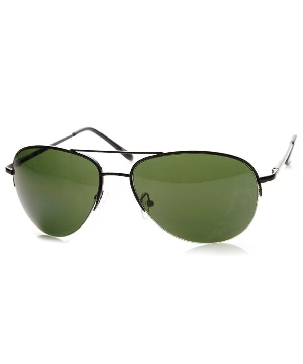 zeroUV Classic Semi Rimless Aviator Sunglasses