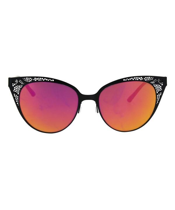 Mirror Fashion Gothic Sunglasses Fuchsia