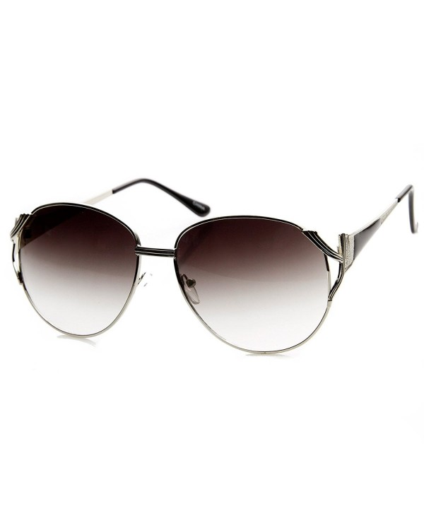 zeroUV Oversized Two Tone Sunglasses Silver Black