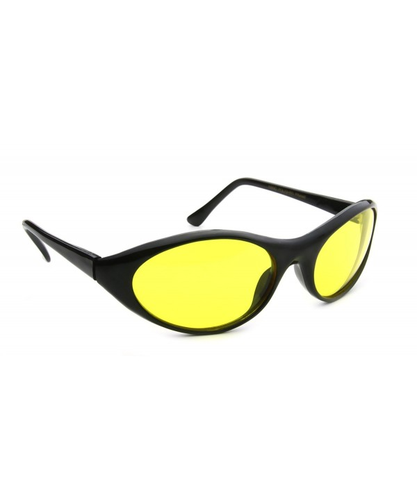 Yellow Sport Women Curved Sunglasses