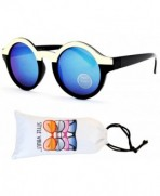 V130 vp Style Vault Sunglasses Gold Blue