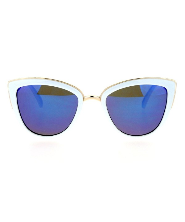 SA106 Oversize Metal Sunglasses White