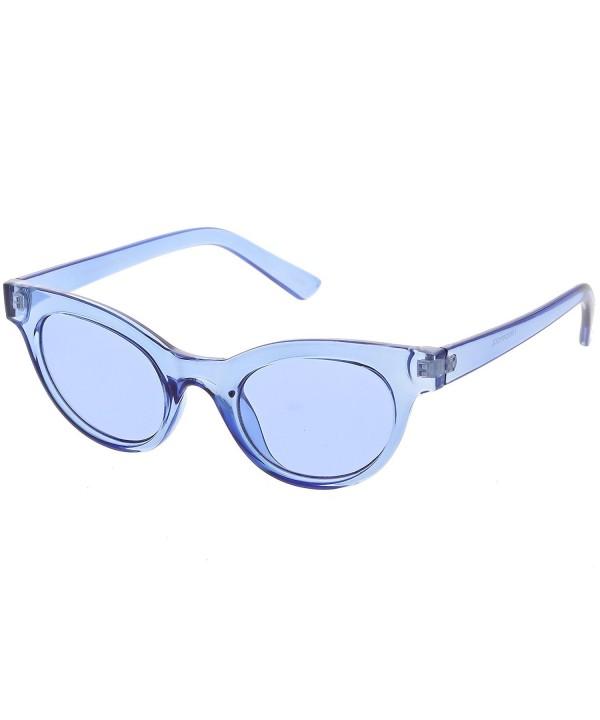 sunglassLA Womens Transparent Sunglasses Rimmed