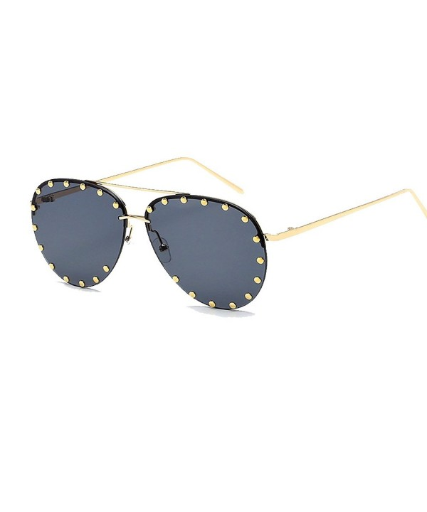 BVAGSS Rimless Oversized Sunglasses Colorful