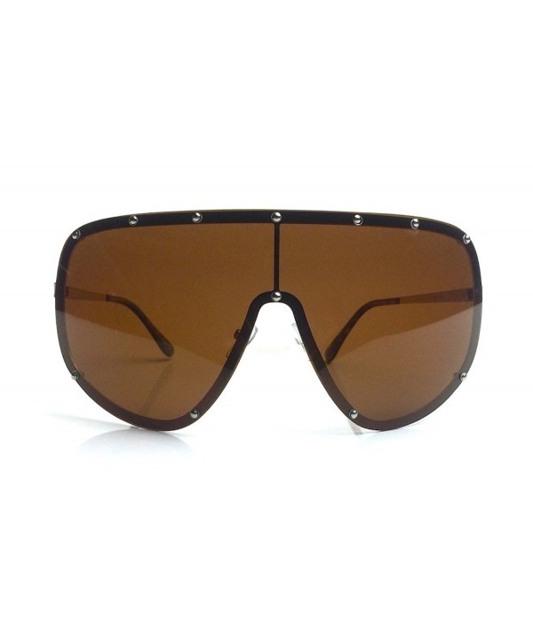Oversized Shield Designer Polarized Sunglasses