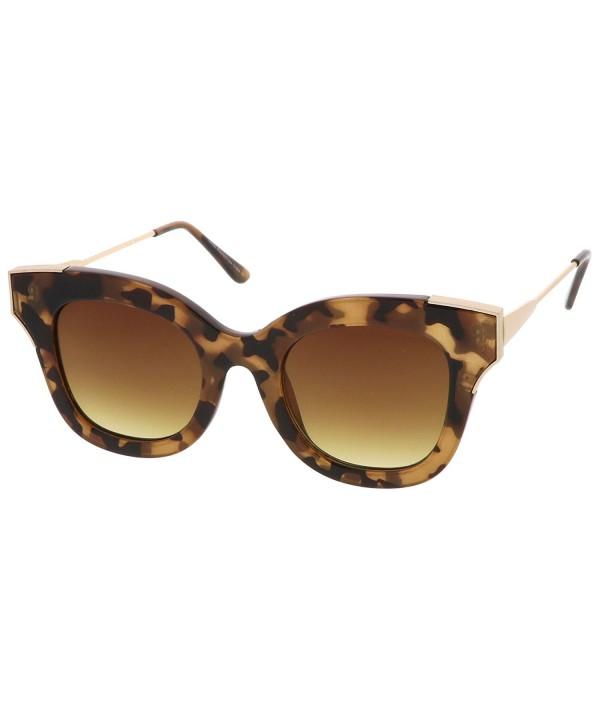 sunglassLA Oversize Square Sunglasses Tortoise