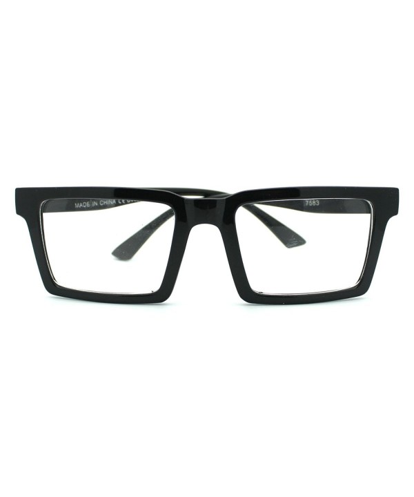 Square Rectangular Frame Clear Glasses
