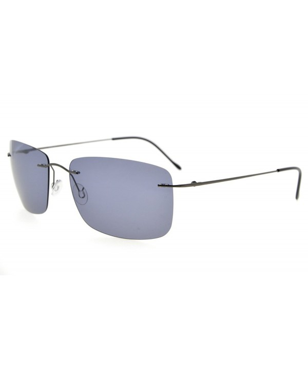 Eyekepper Titanium Rimless Sunglasses Polarized