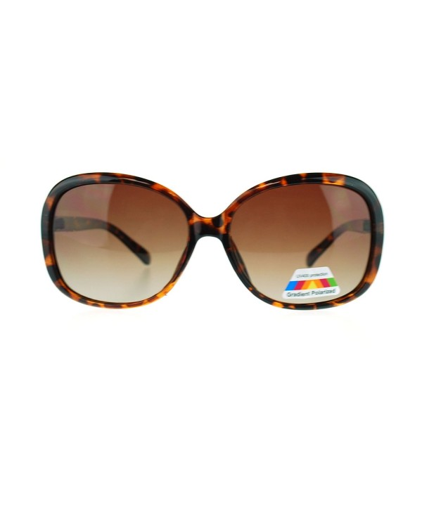 Polarized Plastic Butterfy Sunglasses Tortoise