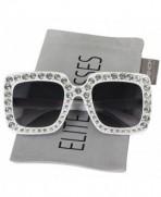 Elite Oversized Rhinestone Designer Sunglasses