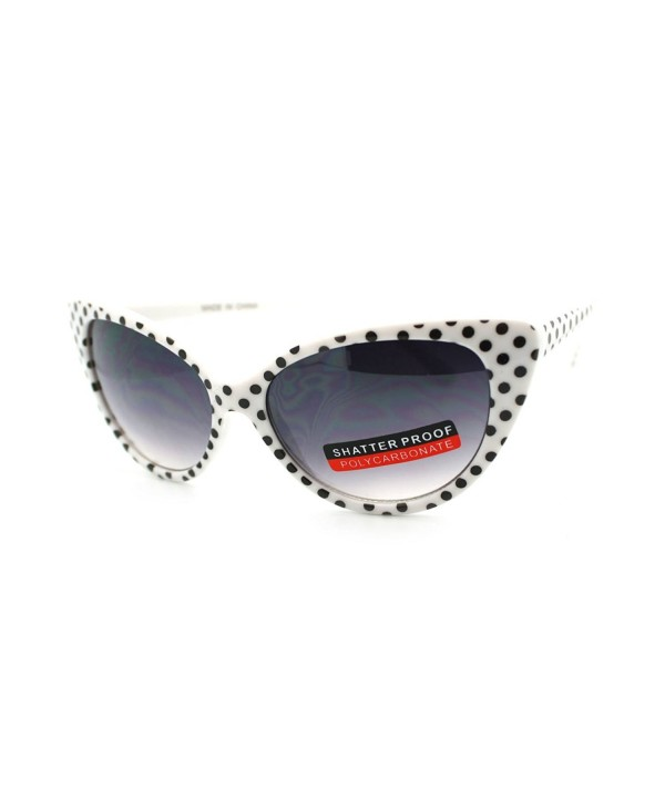 Womens Vintage Narrow Cateye Sunglasses