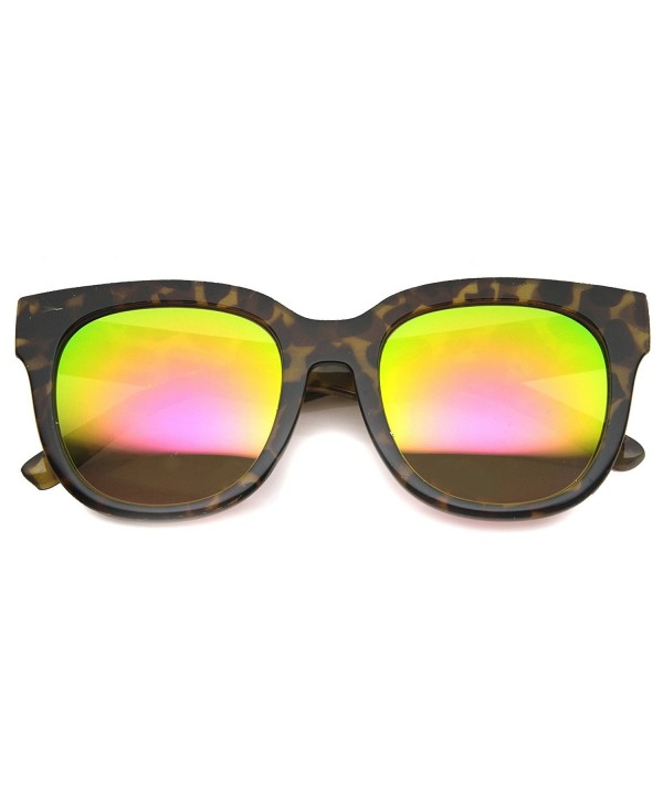 zeroUV Colored Mirrored Sunglasses Tortoise