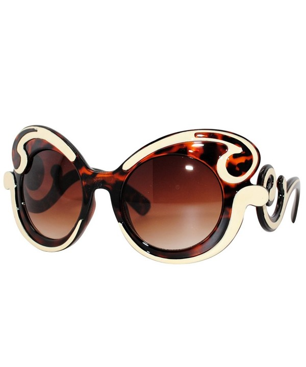 Oversized Fashion Sunglasses Baroque BrownCream