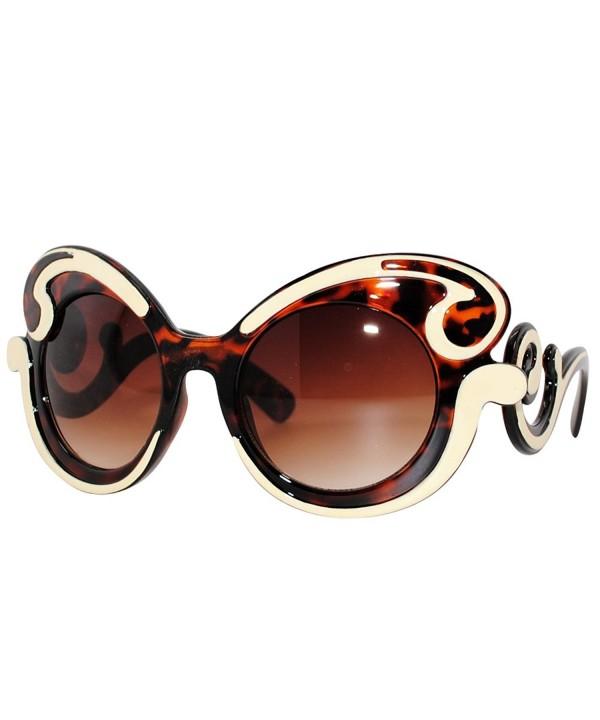 Oversized Fashion Sunglasses Baroque BrownCream