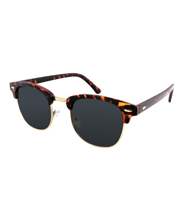 FEISEDY Retro Polarized Sunglasses Tortoises