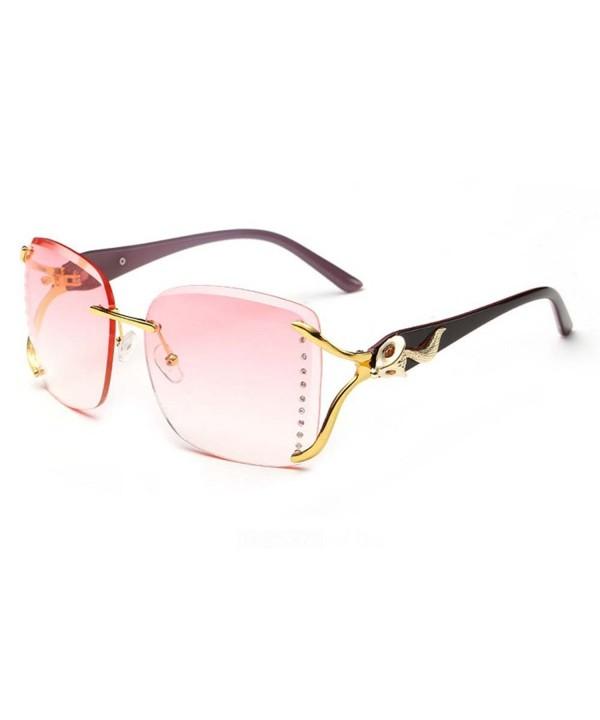 Blue Sunshine Fashion Rimless Sunglasses