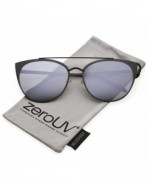 zeroUV Oversize Sunglasses Crossbar Mirrored