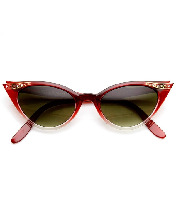 zeroUV Inspired Rhinestone Sunglasses Red Fade