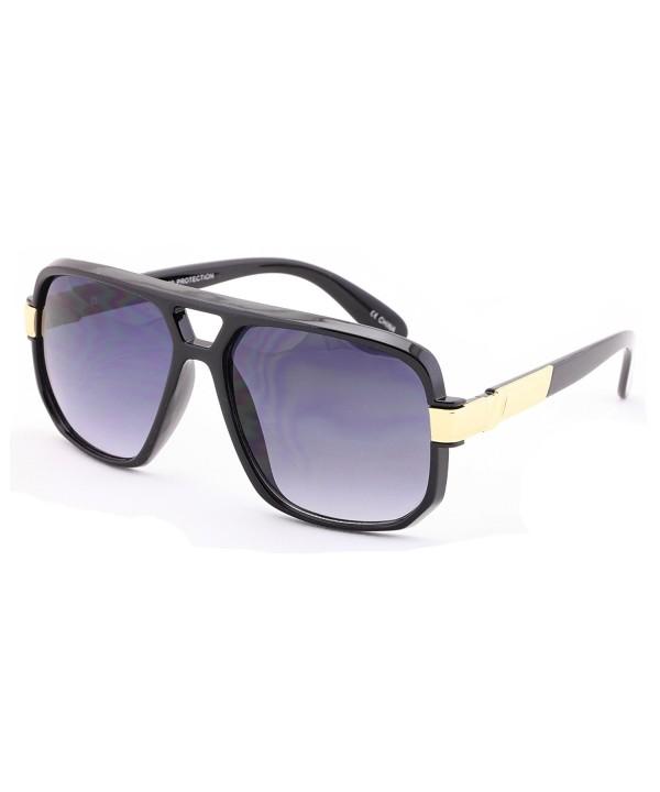Classic Plastic Aviator Trimming Sunglasses
