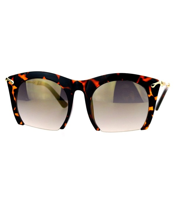 Cropped Sunglasses Oversized Fashion Tortoise