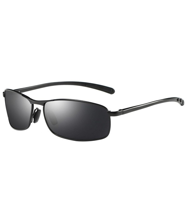 ZHILE Rectangular Polarized Sunglasses Temple