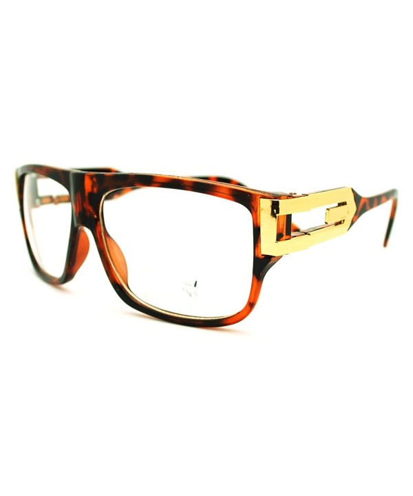 Tortoise Square Rectangular Glasses Plated