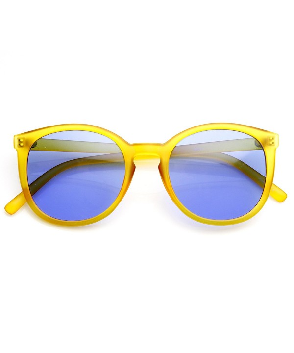 zeroUV Frosted Two Toned Keyhole Sunglasses