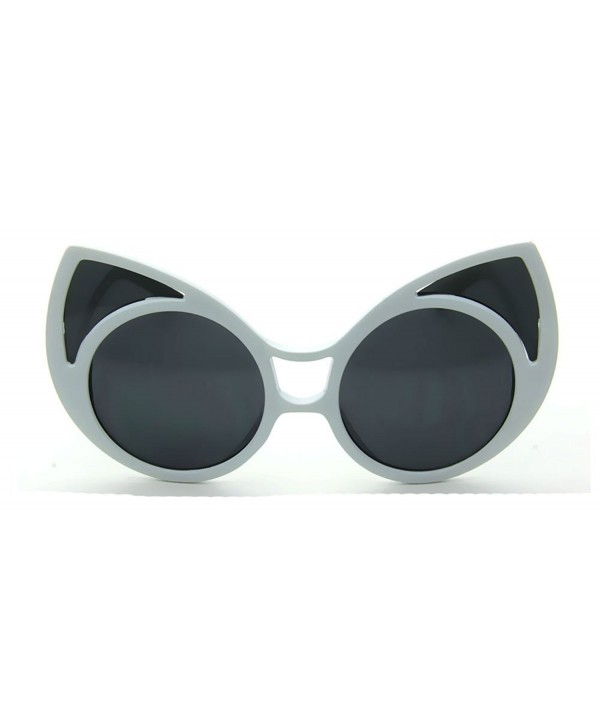 White Extreme Pointed Oversized Sunglasses