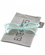 Elite Sunglasses Clubmaster Glasses Turquoise Silver