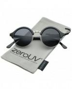 zeroUV Classic Semi Rimless Sunglasses Black Silver
