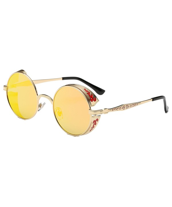 Simvey Vintage Steampunk Sunglasses Shields