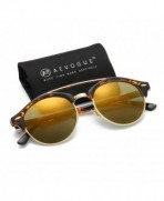 AEVOGUE Polarized Sunglasses Semi Rimless Tortoise