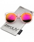 zeroUV Transparent Oversize Sunglasses Magenta