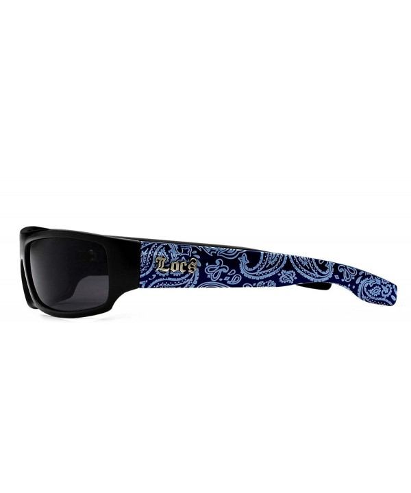 Blue bandana pattern Locs Shades