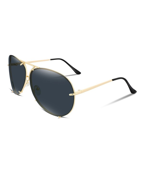 FEISEDY Stylish Aviator Oversized Sunglasses