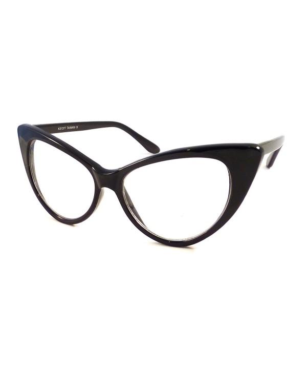 VINTAGE Women Oversized Frame Glasses