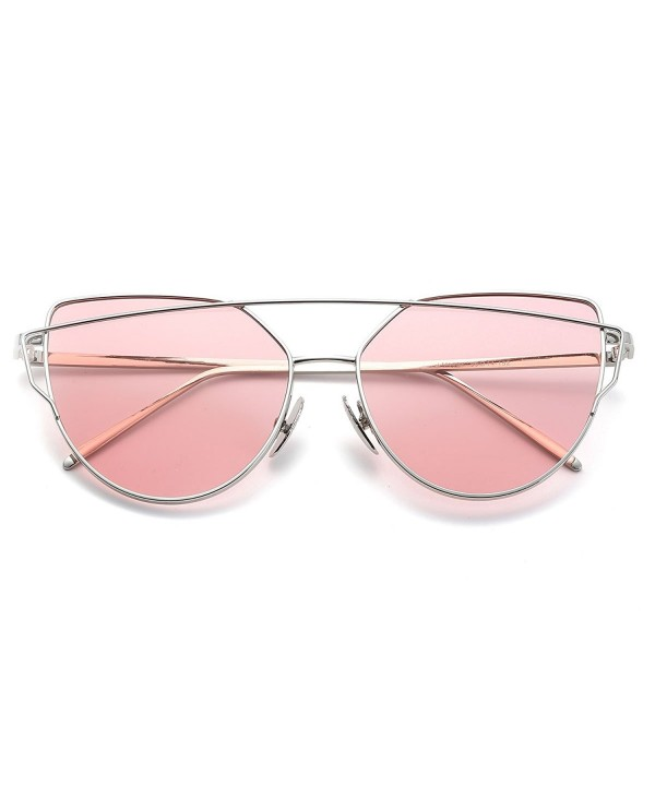 ASLNsong Womens Sunglasses Oversized Mirrored