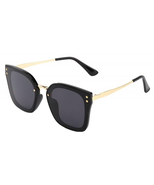 mirrored sunglasses women ladies BLACK