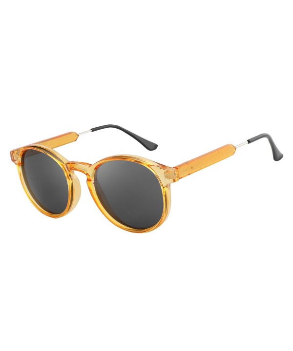 HDCRAFTER Classic Vintage Circle Sunglasses